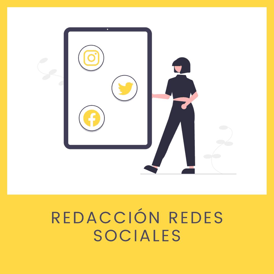 Redacción redes sociales